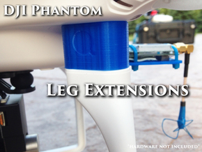 Leg Risers 20mm - DJI Phantom in Green Strong & Flexible Polished