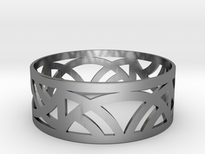 Art Deco Bangle Bracelet  in Polished Silver: Small