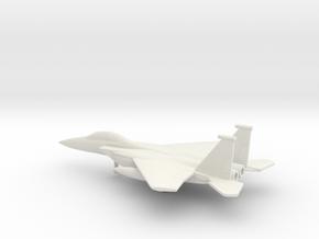McDonnell Douglas F-15E Strike Eagle in White Natural Versatile Plastic: 6mm