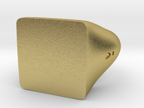 Square Signet Ring in Natural Brass: 5.5 / 50.25