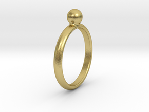 ring pearl size 6.5 in Natural Brass
