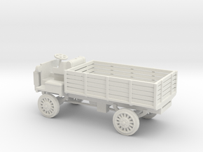 1/100 Scale FWD B 3-Ton 1917 US Army Truck in White Natural Versatile Plastic