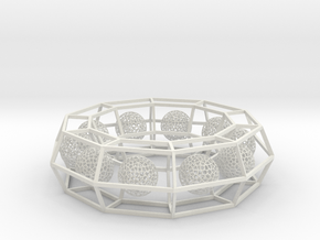 cage ring frame with voronoi ball size 10 (1) in White Natural Versatile Plastic