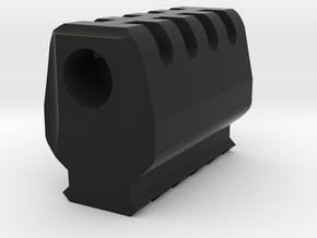 J.W. Airsoft Compensator V2 (14mm Self-Cutting) in Black Natural Versatile Plastic