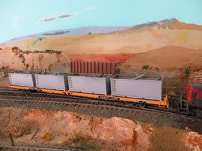 N scale 1/160 Tie or Dirt Railroad Container (sing in Frosted Ultra Detail