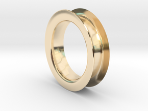 Earing Tube in 14K Yellow Gold: Extra Small