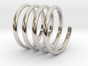 spring coil ring size 6.5 in Rhodium Plated Brass