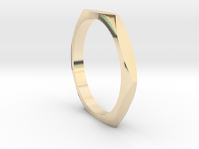 nut ring size 5.5 in 14k Gold Plated Brass