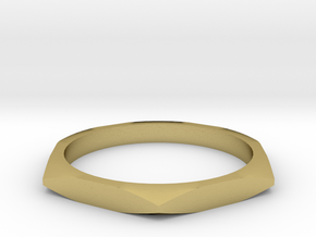 nut ring size 6 in Natural Brass