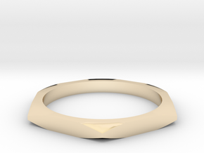 nut ring size 7 in 14K Yellow Gold