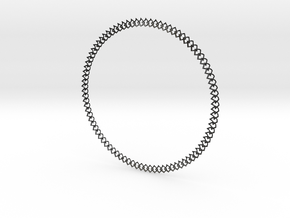 Necklace 2019 rounded in Matte Black Steel