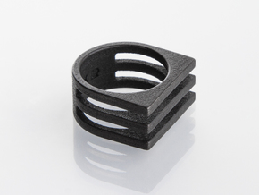 Ring - Triniti in Polished and Bronzed Black Steel: 6 / 51.5