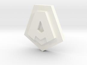 Aramesh Emblem in White Processed Versatile Plastic