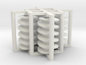 Reversed 2l wormgear 4 piece Set in White Natural Versatile Plastic
