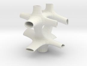 Vorospace Sculpture 1 in White Natural Versatile Plastic