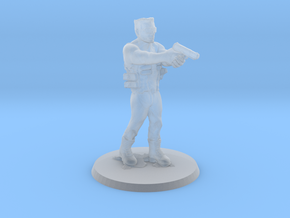 Duke Nukem 1/60 miniature for games terminator in Smooth Fine Detail Plastic