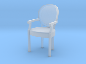 1:24 Louis XVI Armchair in Smooth Fine Detail Plastic