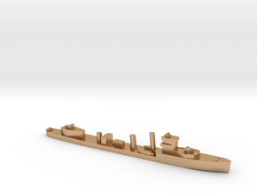 HMS Vega 1:3000 WW2 naval destroyer in Natural Bronze