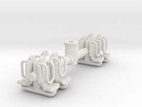 Ausleger Balken 1:87 (H0 Scale) in White Natural Versatile Plastic