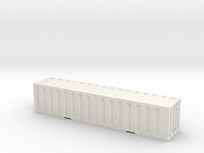 1:350 scale _single_container in White Natural Versatile Plastic