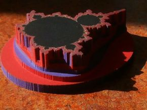 3D Mandelbrot in Full Color Sandstone