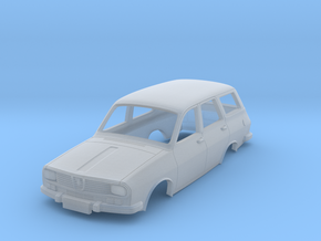 Dacia 1300 (Renault 12) Break Body scale 1:87 in Smooth Fine Detail Plastic