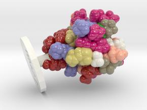 ProteinScope-1SMW-FC9D93E4 in Glossy Full Color Sandstone