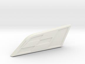 Cupra Badge Grill Replacement in White Natural Versatile Plastic