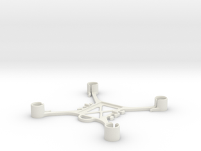 Mini FPV quadcopter frame in White Natural Versatile Plastic