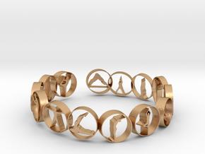 18.11 mm ring in Natural Bronze (Interlocking Parts)