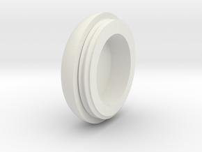 03.02.03.08 Sensor Cover Lid in White Natural Versatile Plastic