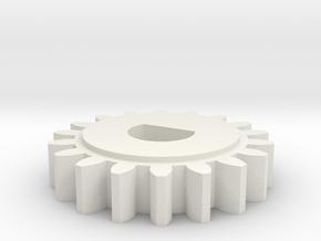 08.01.01.03.04 Elev Trim Spur Gear in White Natural Versatile Plastic