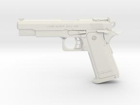 1:6 Miniature HI CAPA .45 Gun in White Natural Versatile Plastic