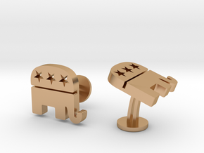 Republican Cufflinks in Polished Bronze