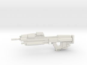 1:6 Miniature MA37 Assault Rifle - HALO in White Natural Versatile Plastic