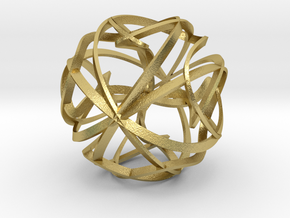 Sculpture Orbit in Natural Brass