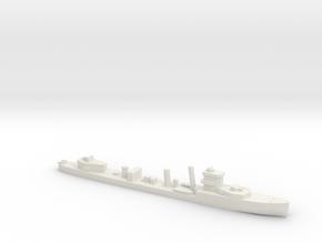 HMS Vega 1:2400 WW2 naval destroyer in White Natural Versatile Plastic