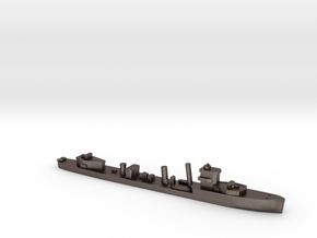 HMS Vega 1:2400 WW2 naval destroyer in Polished Bronzed-Silver Steel