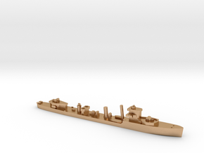 HMS Vega 1:1200 WW2 naval destroyer in Natural Bronze