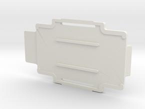 123001340-B Case, Battery Door in White Natural Versatile Plastic