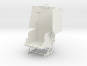 Roban 800 UH-1 Co Pilot Seat in White Natural Versatile Plastic