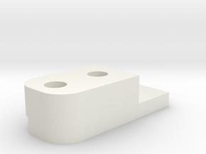 HFP-101095 Gate Block Inner Plate in White Natural Versatile Plastic