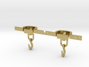 CPL07 FR Coupling for Slate Wagons SM32 in Natural Brass (Interlocking Parts)