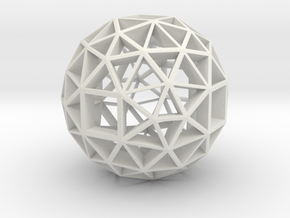 13mm f134 skeletal polyhedron lawal solids gmtrx  in White Natural Versatile Plastic
