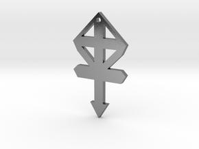 gmtrx f110 cross symbol 1 in Polished Silver