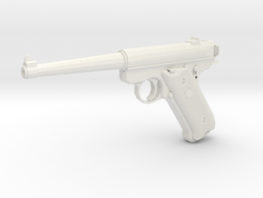 1:6 Miniature Ruger KMK1116 Gun in White Natural Versatile Plastic