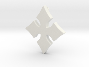 Cosplay Charm - Cross in White Natural Versatile Plastic