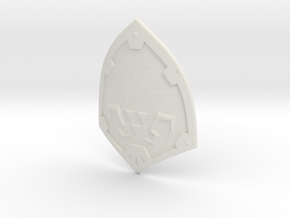 1:6 Miniature Hylian Shield in White Natural Versatile Plastic