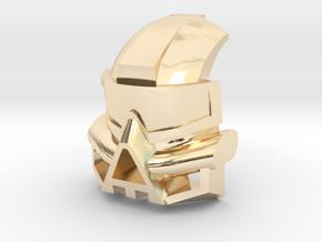 Kanohi Kaukau in 14k Gold Plated Brass