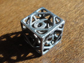 Cage d6 in Polished Bronzed Silver Steel